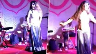 Bar dancers perform in Ganesh festival