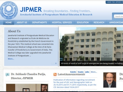 JIPMER admit card 2017: Admit cards for MBBS entrance exam