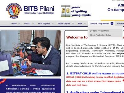 BITSAT slot booking 2018 begins
