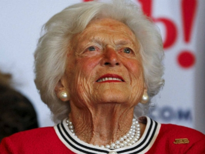 """Former First Lady of United States Barbara Bush is in """"failing health"""""""