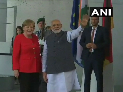 Berlin: Narendra Modi meets Angela Merkel