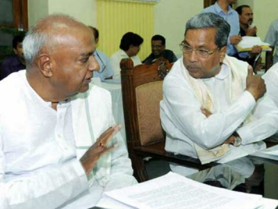 K'taka: Congress, JD(S) to join hands?