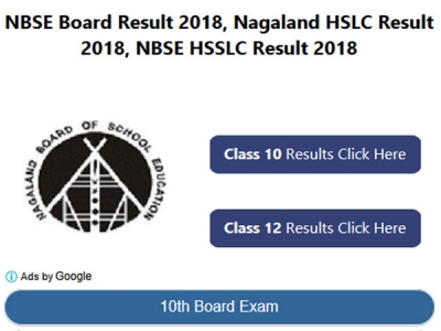 NBSE Result 2018 for HSSCL, HSLC