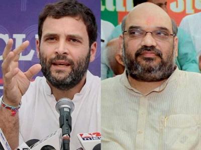 Amit Shah, Rahul Gandhi lock horns