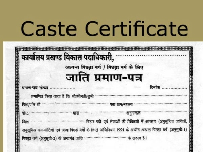 How to Apply For Caste Certificate Online, Offline, Validity