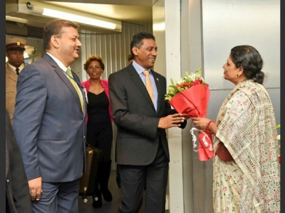 Seychelles President arrives in India