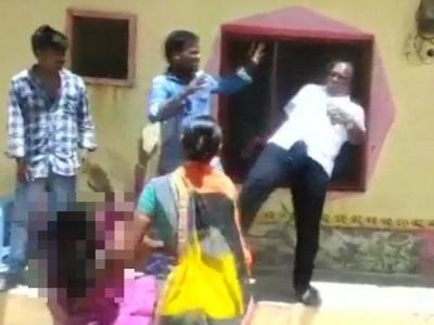 Telangana leader kicks woman