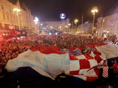 Croatia's World Cup success divides Balkan neighbours