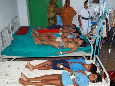 7 children fall ill  in Sambhal