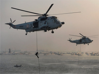 Two Indian military choppers gifted