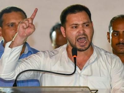 Tejashwi demands Nitish's resignation
