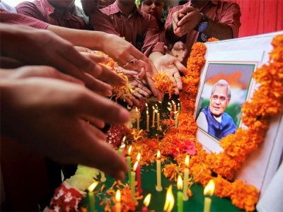 In pics: Tributes to Vajpayee