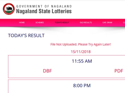 Nagaland Lotteries today result: Check 11 55 am result now