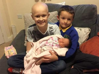Boy with cancer lived on to see his baby