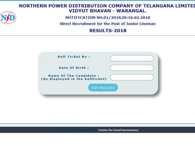 Websites to check TSNPDCL Junior Lineman
