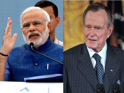 Comparing Bush and Modi's response