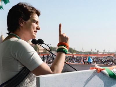 Priyanka hits out at PM says 'Modi has