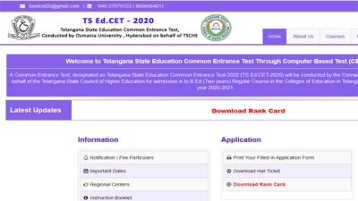 TS EDCET 2020 Result declared
