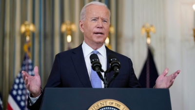 Biden gets COVID-19 booster shot after a