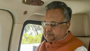 Chhattisgarh Chief Minister Raman Singh During A Campaign Trail For Chhattisgarh Assembly Election