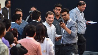 Congress President Rahul Gandhi Meets The IT Professionals During An Interactive Session