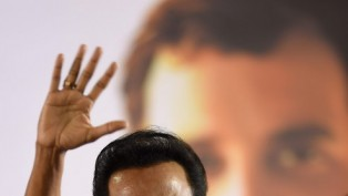 DMK President M K Stalin Waves During An Election Campaign For Party Candidate Kalanidhi Veersamy