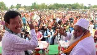 All India United Democratic Front (AIUDI) Chief Badruddin Ajmal During An Election Campaign