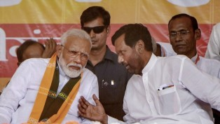 Prime Minister Narendra Modi and Lok Janshakti Party (LJP) chief Ram Vilas Paswan