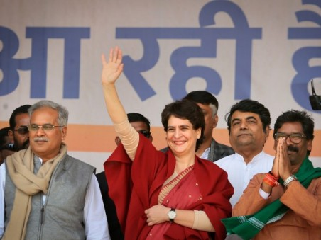 All India Congress Committee (AICC) General Secretary Priyanka Gandhi, Jharkhand Mukti Morcha (Jmm)
