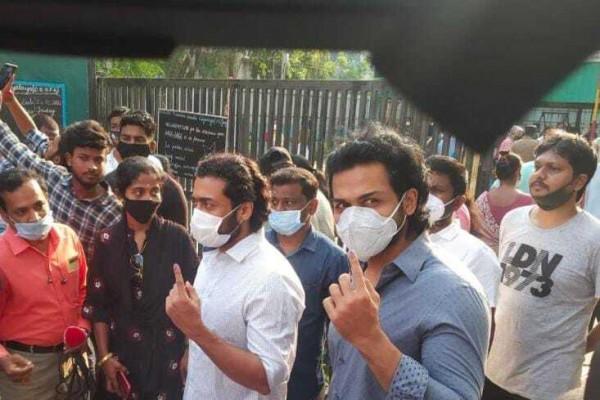 తమిళనాడు ఎన్నికల సిత్రాలు: స్టాలిన్ నుంచి సినీ హీరోల వరకు పోలింగ్