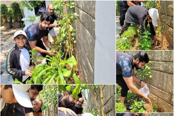 விவேக் நினைவாக குடும்பத்துடன் மரம் நட்ட அருண் விஜய் ஃபோட்டோஸ்