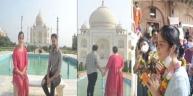 तस्वीरों में देखिए साइना नेहवाल के बाके बिहारी के मंदिर से लेकर ताजमहल के दीदार तक की यात्रा