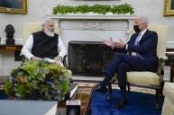 ModiUSVisit2021: ప్రెసిడెంట్ జో బిడెన్ తో  భారత ప్రధాని నరేంద్ర మోడీ భేటీ  (ఫోటోలు)