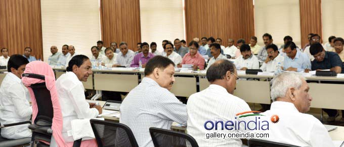 Telangana CM KCR Review Meeting On Mission Bhagiratha At Pragathi Bhavan