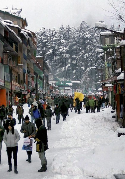 Snowfall In Himachal & Jammu Kashmir