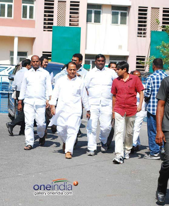 Telangana CM KCR And Ministers Coming Out From C.Block After Cabinet Meeting