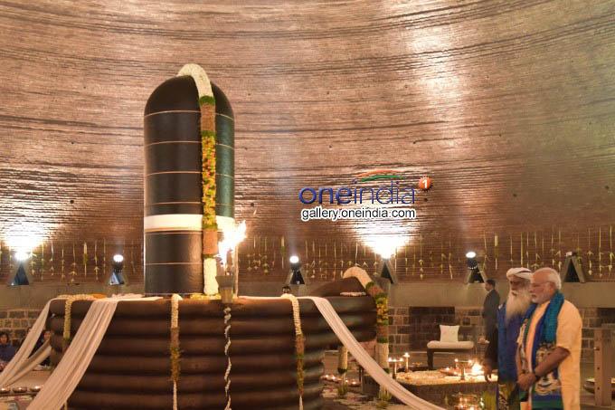 PM Narendra Modi Unveils 112-Foot Shiva Statue In Coimbatore