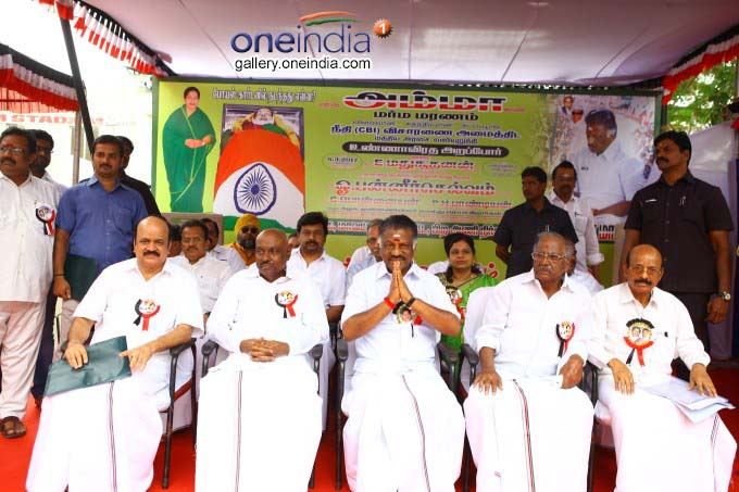 O Panneerselvam Hunger Strike Demanding Probe Into Jayalalithaa's Death