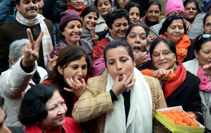 Image Gallery: BJP Supports Celebrates Uttarakhand Assembly Election Victory