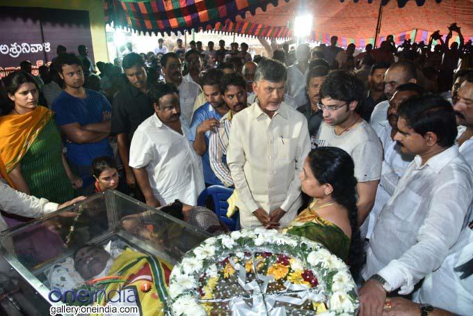 CM Chandrababu Naidu Pays Floral Tributes To Late Devineni Nehru At Gunadala