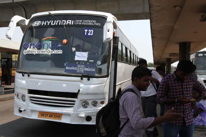 Photo Gallery: Tamil Nadu TNSTC Bus Strike