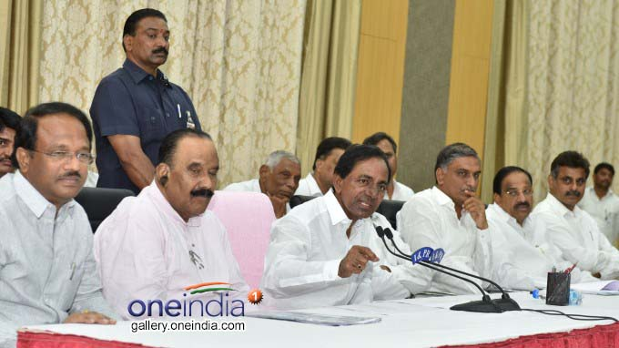 CM KCR Addressing A Press Conference At Janahita, Pragathi Bhavan