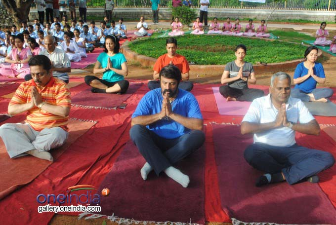 TDP MLA And Actor Balakrishna And Others Perform Yoga
