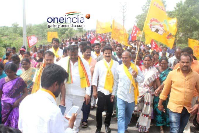 Telangana TDP Leader Visited The Villages RR District