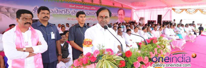CM KCR Lays Foundation Stone For SRSP Restoration Scheme