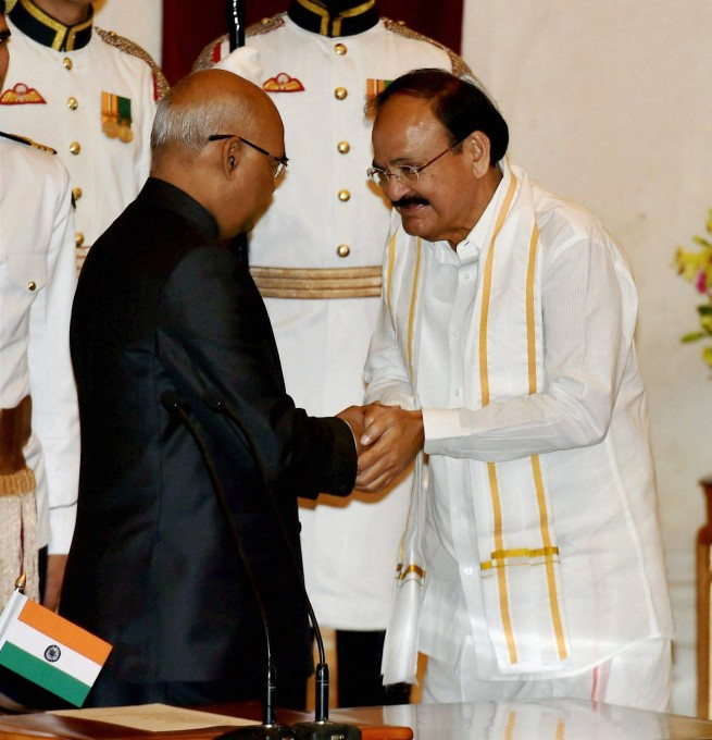 Photo Gallery: Venkaiah Naidu Sworn In As India's 13th Vice-President Of India