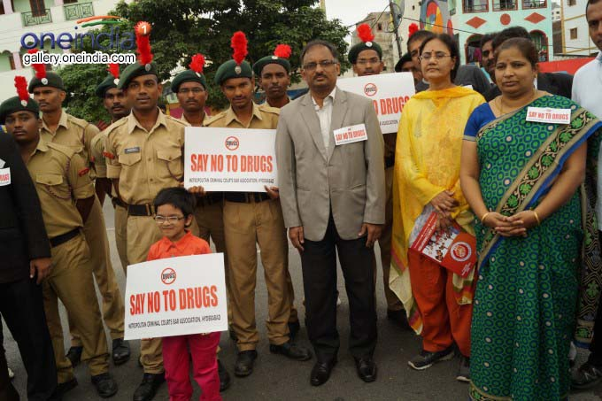 Say No To Drugs Run From Necklace Road In Hyderabad