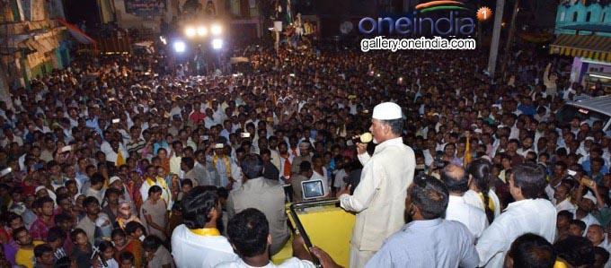 AP CM N Chandrababu Naidu During Election Campaign In Nandyal