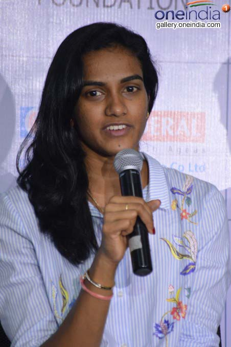 PV Sindhu Addressing Media At Pullela Gopichand Academy In Hyderabad
