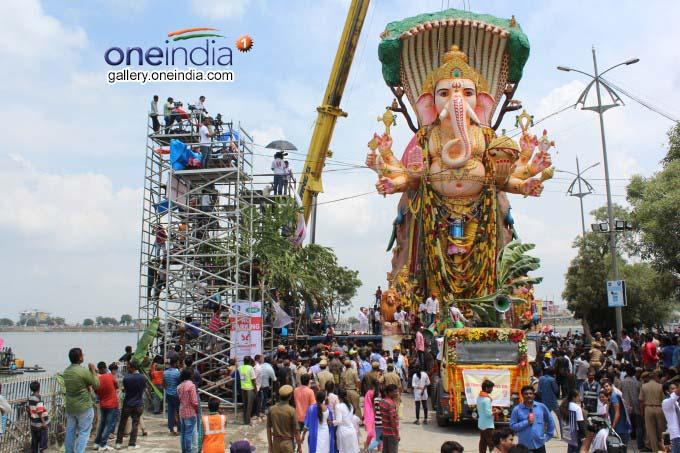 Ganesh Immersions Began In Hyderabad